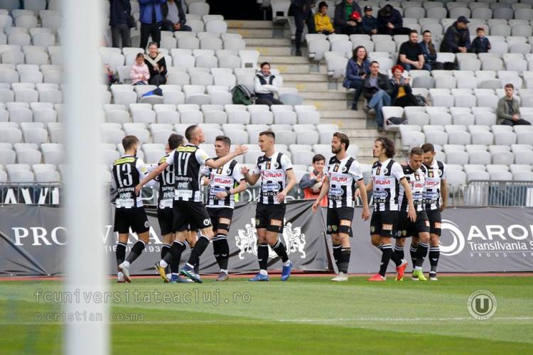 U Cluj a invins la Timișoara, scor 3-0