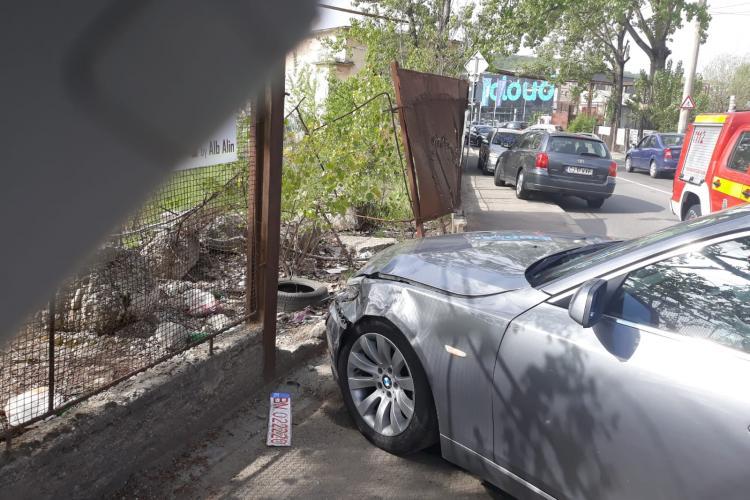 Accident pe Tăietura Turcului, intersecție cu strada Tudor Vladimirescu - FOTO