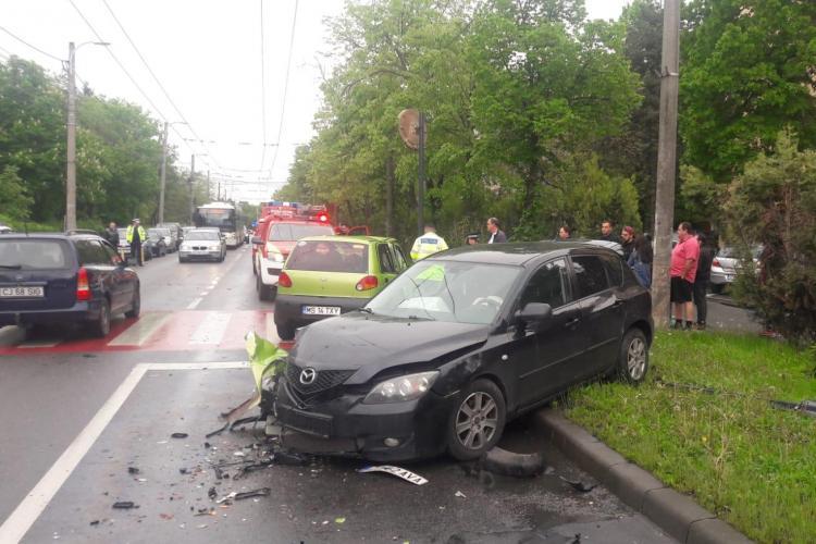 Accident cu trei mașini în Gheorgheni FOTO