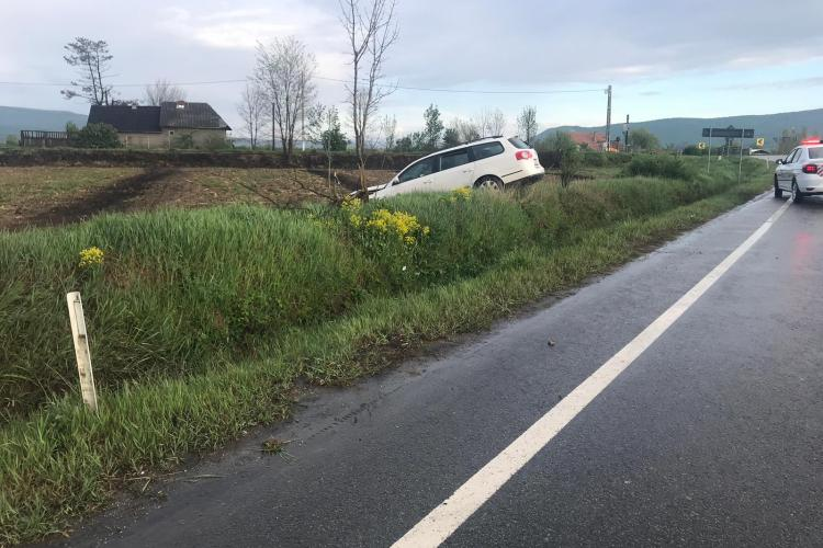 Accident in Câțcău din cauza vitezei - FOTO
