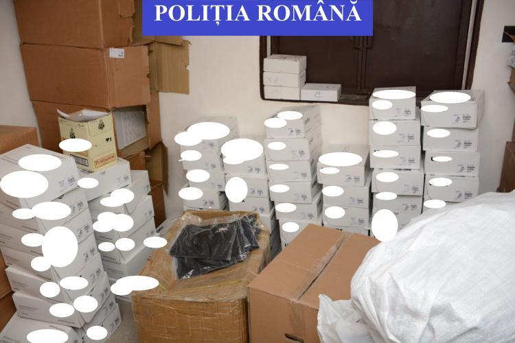 """""""Fake-uri"""" confiscate de polițiști la Cluj! Au fost indisponibilizate bunuri contrafăcute în valoare de 80.000 euro FOTO"""