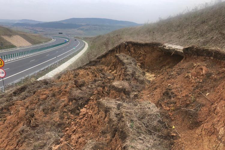 Alenecări de teren pe Autostrada Transilvania