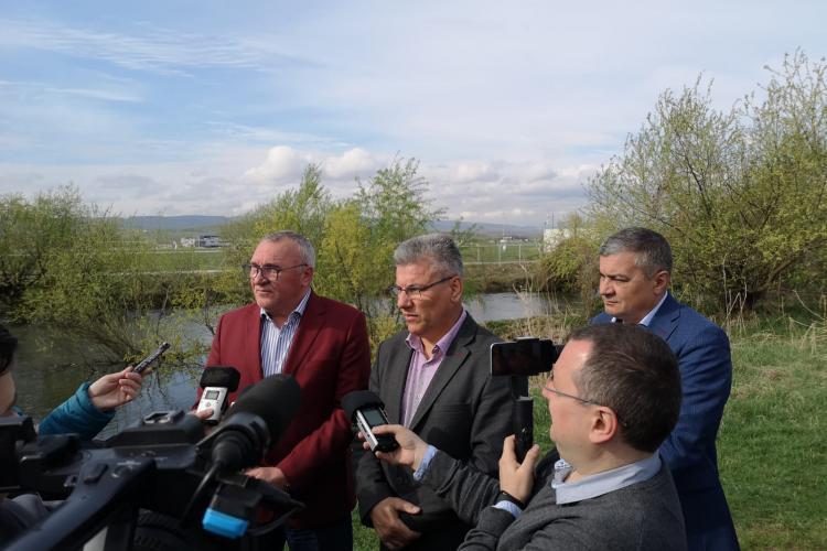 Ministrul Apelor și Pădurilor, Ioan Deneș, a inspectat lucrările de deviere a Someșului - FOTO