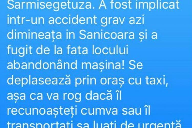 Avem poza șoferului care a distrus trei mașini în Sânnicoară și a fugit. L-a văzut cineva? - FOTO