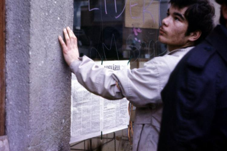Fotografii noi cu Revoluția de la Cluj, din 1989 - FOTO