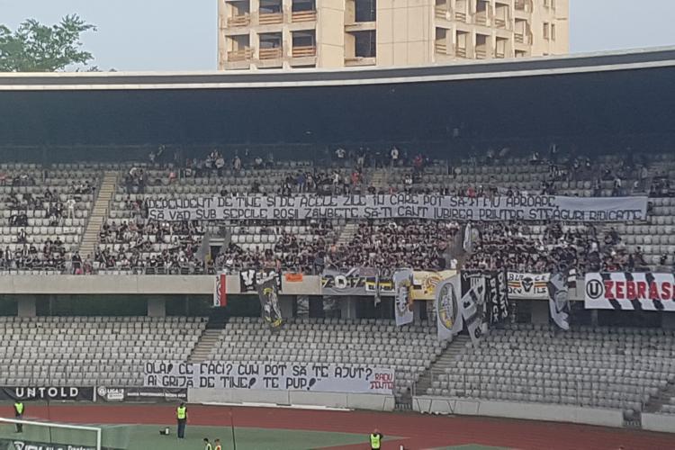 Suporterii U Cluj reproșuri DURE pentru Boc dupa infrângerea cu Ripensia - VIDEO
