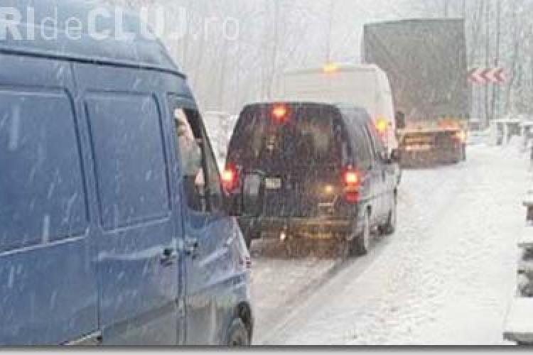 Cluj: Nu exista drumuri blocate, dar soferii trebuie sa circule cu mare atentie