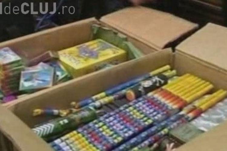 30.000 de pocnitori si 600 de artificii, confiscate in ultima luna in judetul Cluj