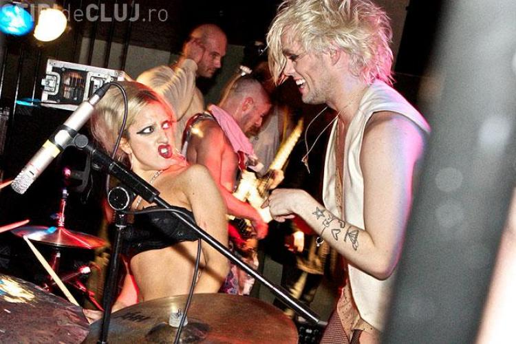 Lady Gaga a cantat numai in sutien, intr-un club din Londra - FOTO