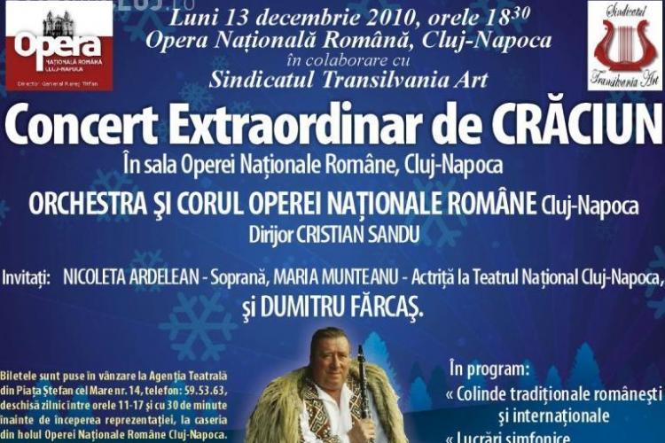 Concert de Craciun la Opera Nationala, luni, 13 decembrie