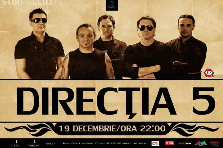 Concert Directia 5, duminica, 19 decembrie, de la ora 22.00