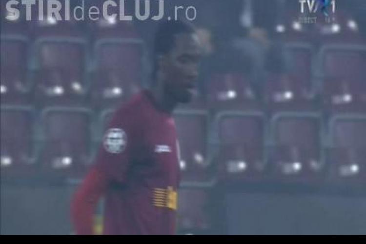 CFR Cluj - AS Roma 1-1 - REZUMAT VIDEO / Traore a inscris, dar s-a facut si de ras: a facut semne obscene catre public