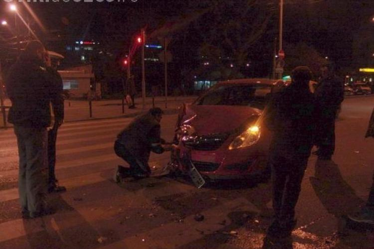 Accident pe strada Septimiu Albini! Un barbat a fost ranit