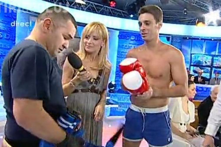 Mircea Badea si Leonard Doroftei au boxat - VIDEO