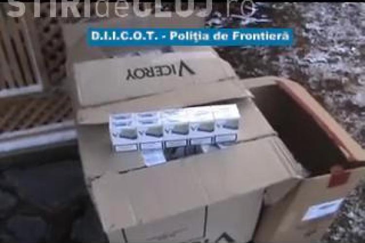 Procurorii DIICOT Cluj au anihilat o retea de contrabandisti cu tigari - VIDEO