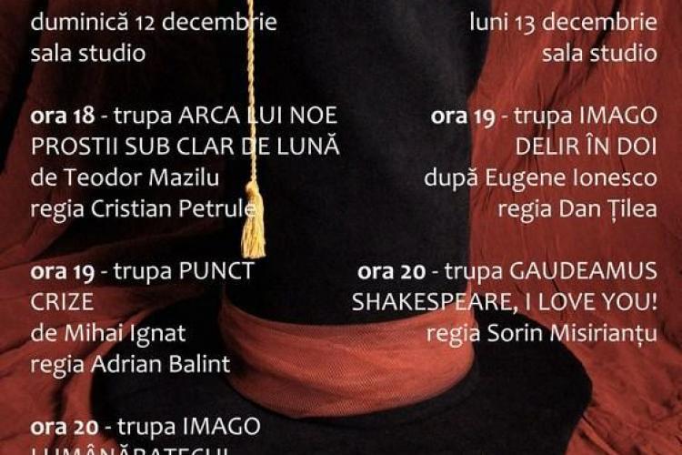 Gala Teatrului Studentesc se desfasoara la Cluj Napoca, in perioada 12 - 13 decembrie