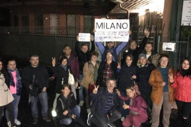Românii din Milano i-au pregătit un colet lui Dragnea și l-au expediat la Rahova