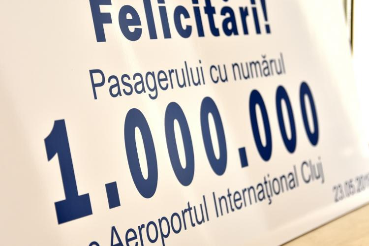 """Aeroportul Internaţional """"Avram Iancu"""" Cluj a ajuns deja la un milion de pasageri în anul 2019"""