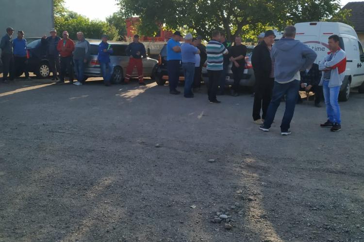 A doua zi de proteste la Societatea Drumuri și Poduri Judeţene Cluj SA - VIDEO