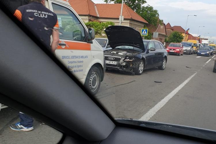 Accident la Florești, cauzat de o șoferiță băută la volan chiar la primele ore ale dimineții FOTO