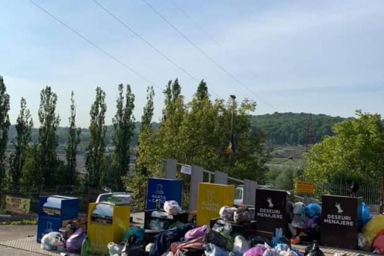 """În Baciu, gunoiul e aruncat """"din mersul mașinii"""" - FOTO"""