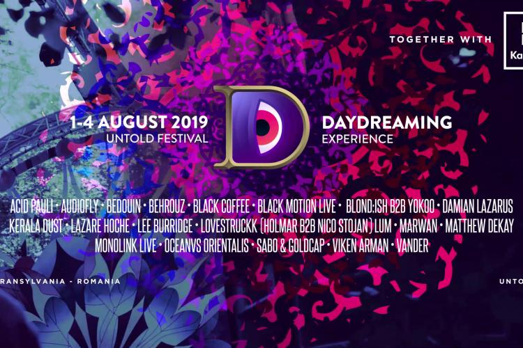 S-a anunțat line-up-ul scenei Daydreaming, de la UNTOLD: Acid Pauli, Bedouin, Black Coffee și BLOND:ISH b2b YokoO printre headlineri