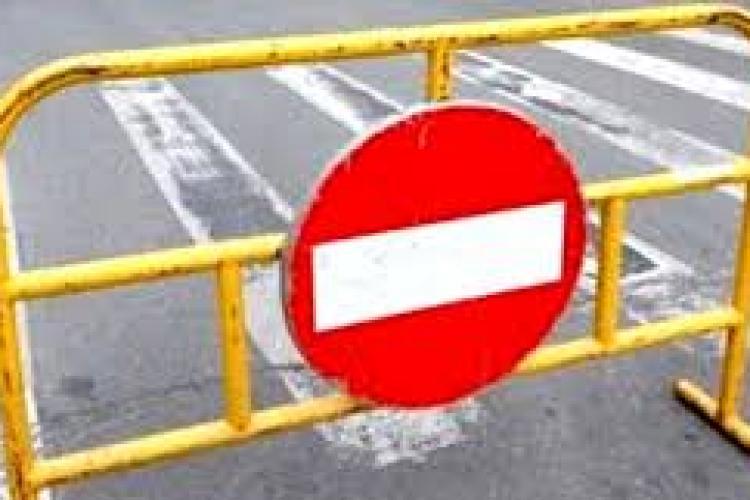 Restricții de circulație la Cluj, până la finalul săptămânii