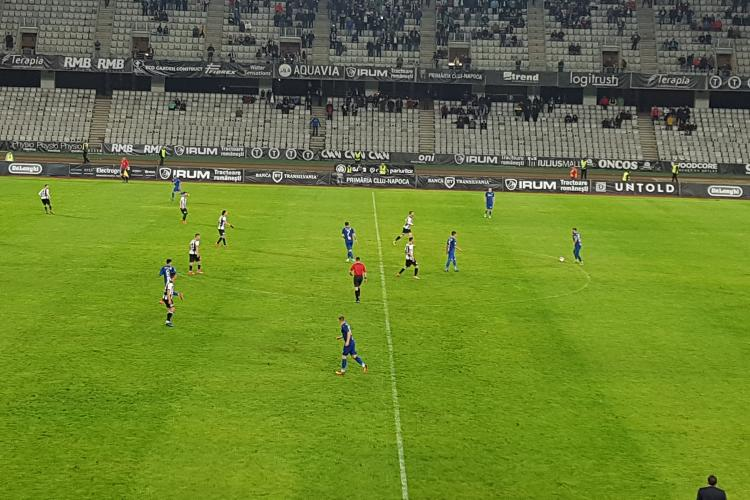 U Cluj - Snagov 1-0. Gol in final de meci. Scandal cu Eugen Trica - VIDEO