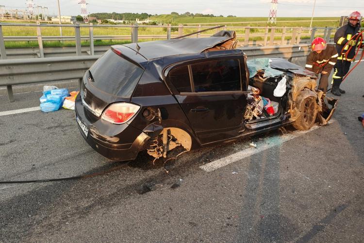 Accident cu trei victime pe Autostrada A3, în zona Turda. Traficul spre Mureș a fost blocat FOTO