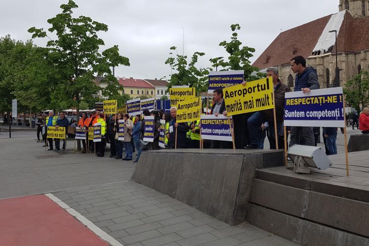 Sindicalistii de la Aeroport ii cer lui Emil Boc sa mentina sustinerea Aeroportului, vizat de interese - VIDEO