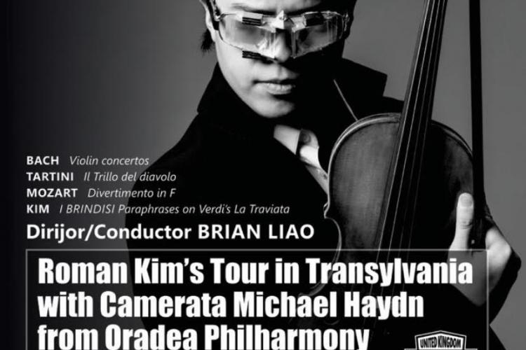 Roman Kim, cel mai bun tânăr violonist din lume, vine în concert la Cluj. Vezi de unde se pot achiziționa biletele