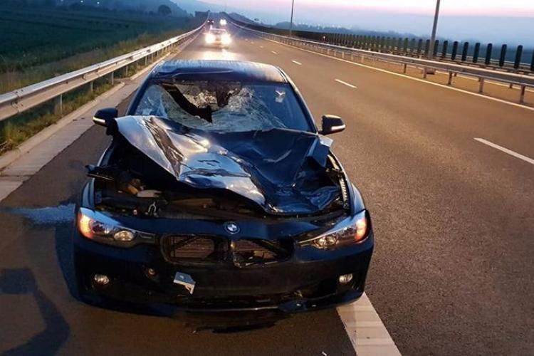 Gardul de protecție pe Autostrada Turda - Sebeș e rupt. Șoferii își pun viața în pericol. CNAIR susține că totul e FALS