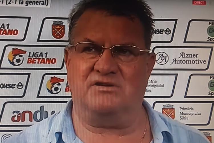 Iuliu Mureșan a spus că respectă U Cluj, dar rivalii rămân rivali! Ce le-a cerut jucătorilor de la Sibiu? - VIDEO