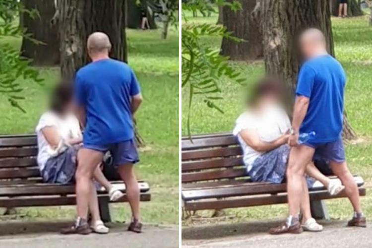 """Au înnebunit clujenii? Doi îndrăgostiți """"întârziați"""", filmați în Parcul Central în ipostaze indecente - VIDEO"""