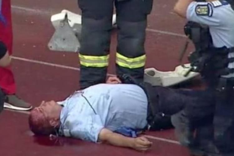U Cluj, amendă URIAȘĂ pentru incidentele de la meciul cu Hermannstadt, unde un jandarm a fost rănit