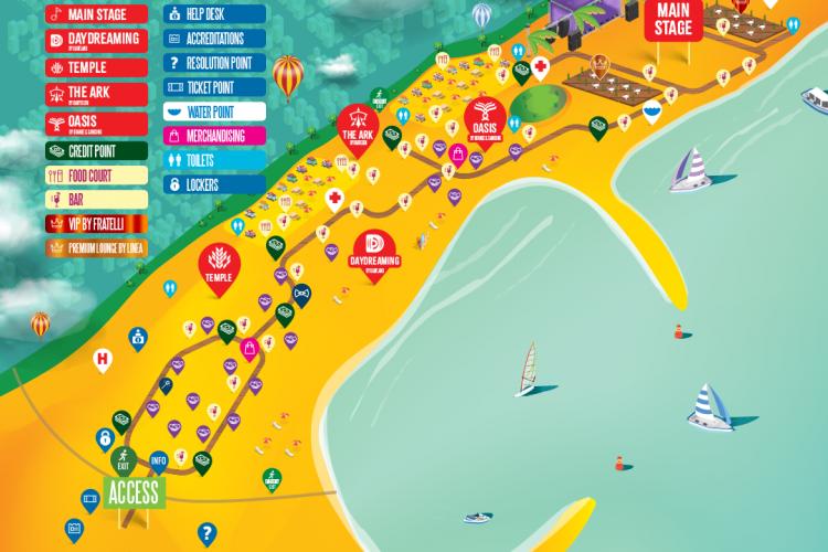 Informații utile despre NEVERESEA: Accesul în festival, transportul în comun și harta scenelor!