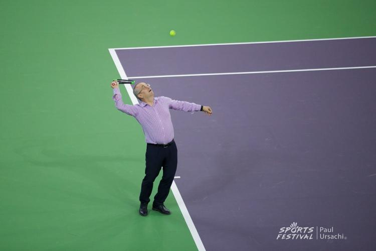 Emil Boc a jucat tenis cu tatăl Simonei Halep, la Arena BT