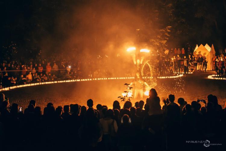 Festivalul Luminii are loc pe Malul Someșului din Cluj-Napoca - FOTO