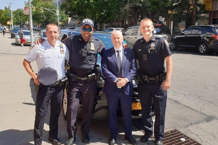 Șeful Poliției Cluj în vizită în SUA! A patrulat prin Brooklyn - FOTO
