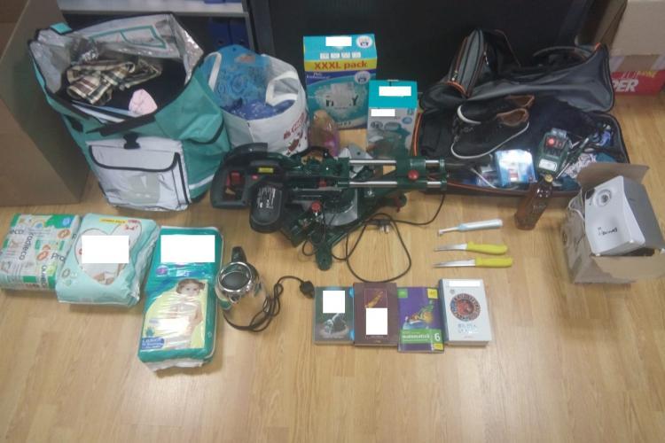 CLUJ: Hoț prins de polițiști după ce a furat bunuri de peste 8.000 de euro. Ce i-au găsit oamenii legii în casă FOTO
