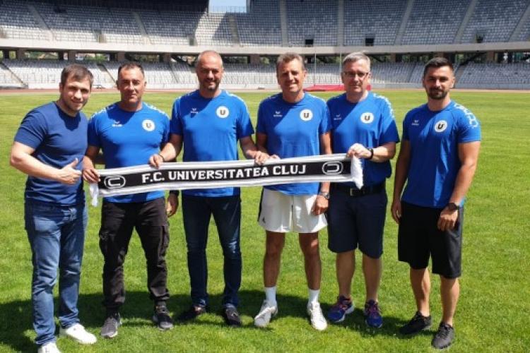 Dulca a prezentat staff-ul U Cluj pentru noul sezon. Preparatorul fizic a lucrat cu Bayern Munchen