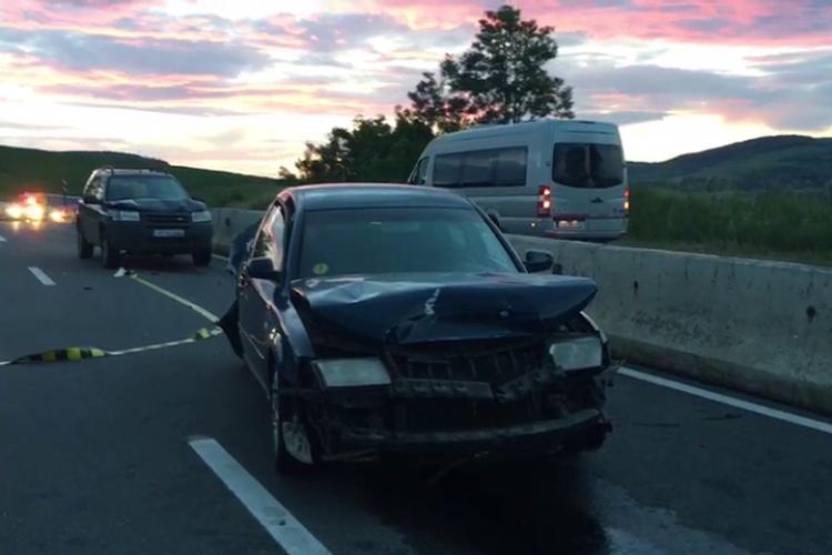 Accident în Vâlcele din cauza nepăstrării distanței față de autoturismul din față - VIDEO