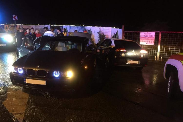 Accident pe strada Frunzisului (Varianta Zorilor - Manastur) - FOTO