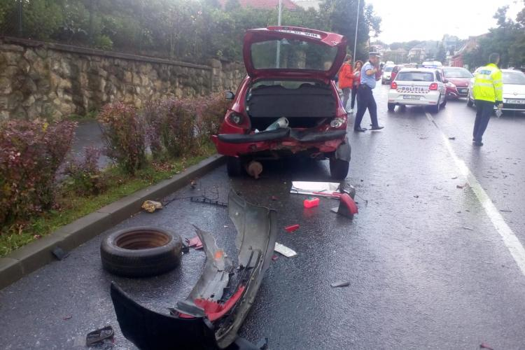 Al doilea accident în aceeași zi pe Calea Turzii. Patru mașini sunt implicate FOTO