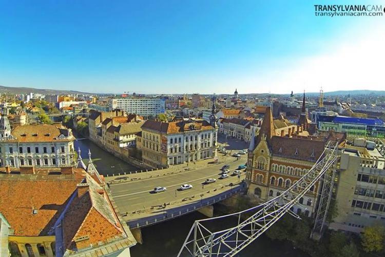 Sinucigaș pe podul Horea din Cluj-Napoca