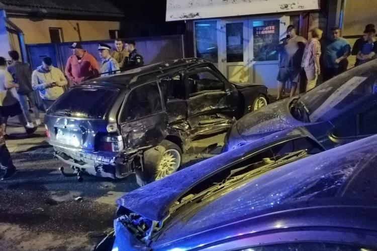 Accident GRAV în Dej. Patru mașini s-au făcut PRAF - FOTO