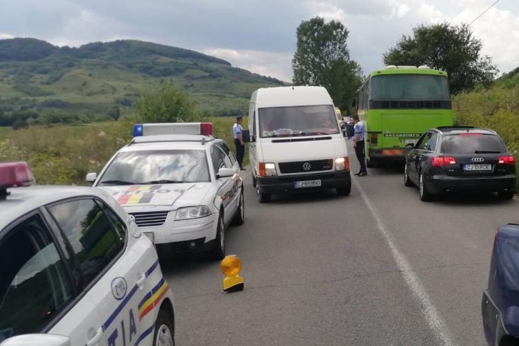 Pieton ucis pe loc de autobuz pe un drum din Cluj. Traversa neregulamentar FOTO