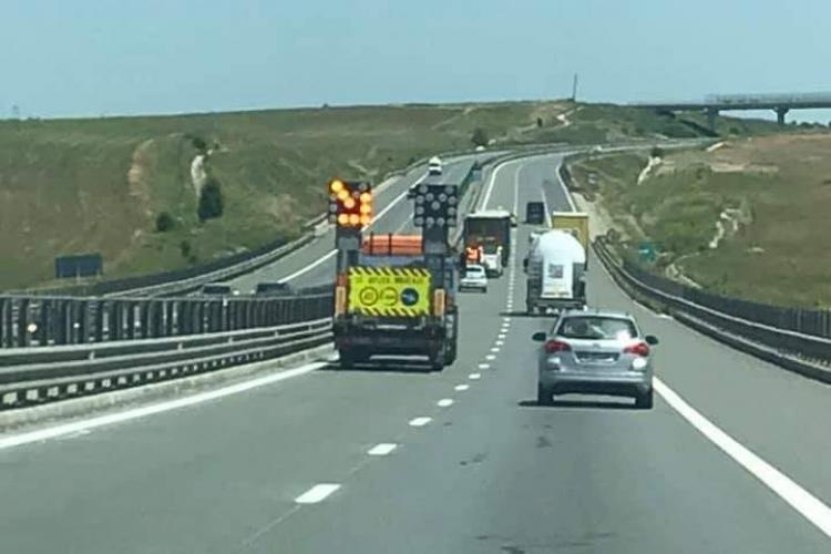 Noi restricții de circulație pe Autostrada A3, în zona Câmpia Turzii - Gilău