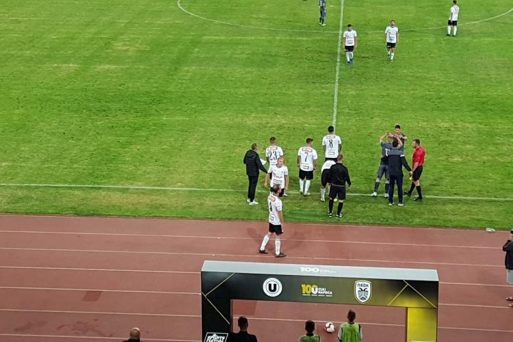 U Cluj - PAOK - 0-5! Execuție fără drept de apel în fața fanilor. Grecii s-au luat prea în serios