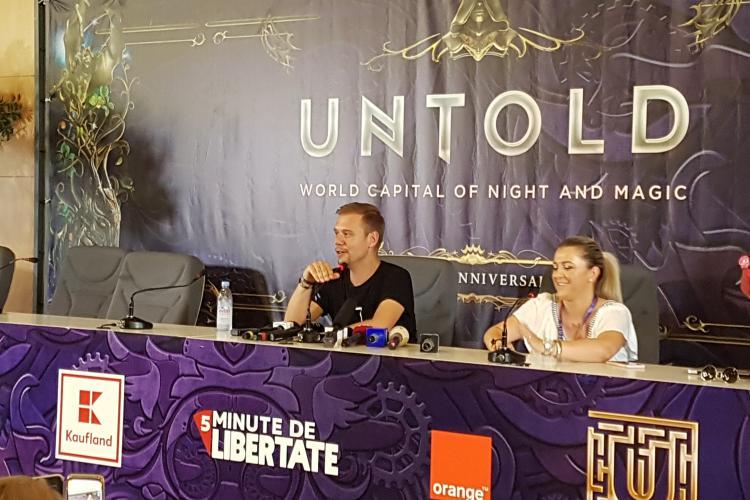 Armin van Buuren, la conferința de presă de la Untold 2019: Cel mai lung show al meu a avut peste 12 ore - VIDEO
